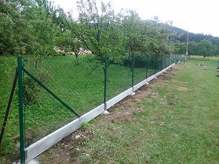 Rekonstrukce oplocení, PVC pletivo 125 a 150 cm