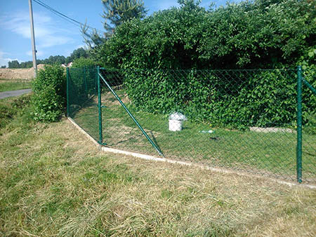Pletivový plot 150cm, délka 90m, branka