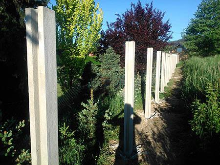 Betonový plot 2m, délka 35m